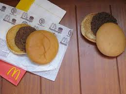 12 year old McDonald's burger
